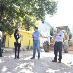 Se Reúne Toño Marún con habitantes de La Estación para dar arranque a Mantenimiento de calles