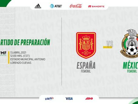 En la próxima Fecha FIFA viajará a Europa la Selección Mexicana Femenil