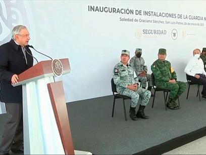 AMLO destaca acciones del Gobierno federal para apoyar a juventud; inaugura Cuartel en SLP para GN