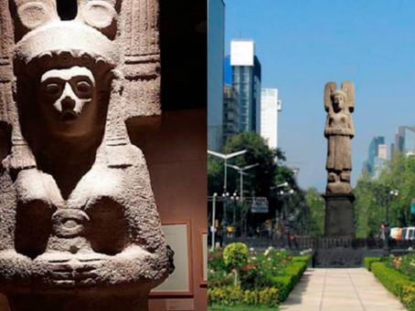 """""""La Joven de Amajac"""" sustituirá la estatua de Cristóbal Colón ubicada en Paseo de la Reforma"""