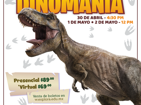 Rugirán dinosaurios en Explora para celebrar el Día del Niño