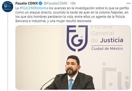 Fiscalía investiga vínculos de empresario asesinado en CDMX con empresa fantasma contratada por S.F.