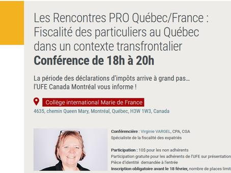 Fiscalité des particuliers au Québec dans un contexte transfrontalier