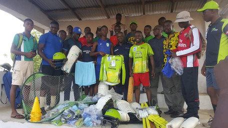 """We Are Pleased To Make This Donation To The Most Successful National Team In Sierra Leone&quot"