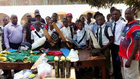 KENT DONATES CRICKET EQUIPMENT TO THE PRINCE OF WALES SCHOOL