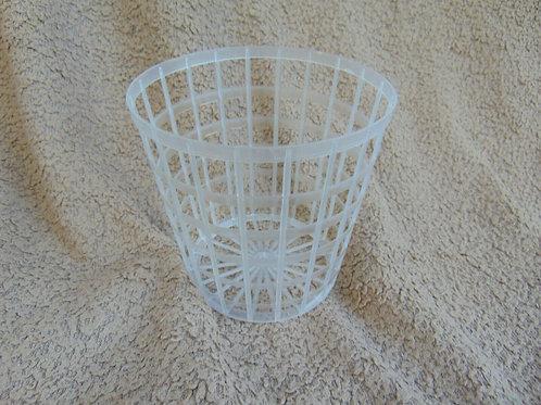 10 Clear grid/basket pot 11 cm