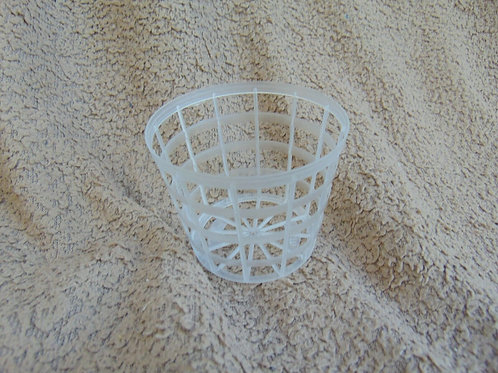 10 Clear orchid grid / basket pot 8cm diameter