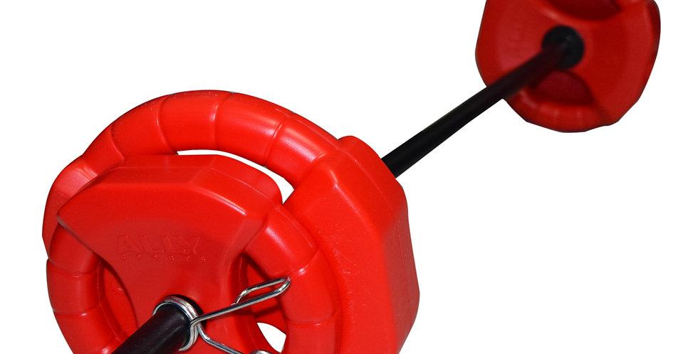Kit Localizada 15 kg (barra + discos 2,5kg- 5kg)
