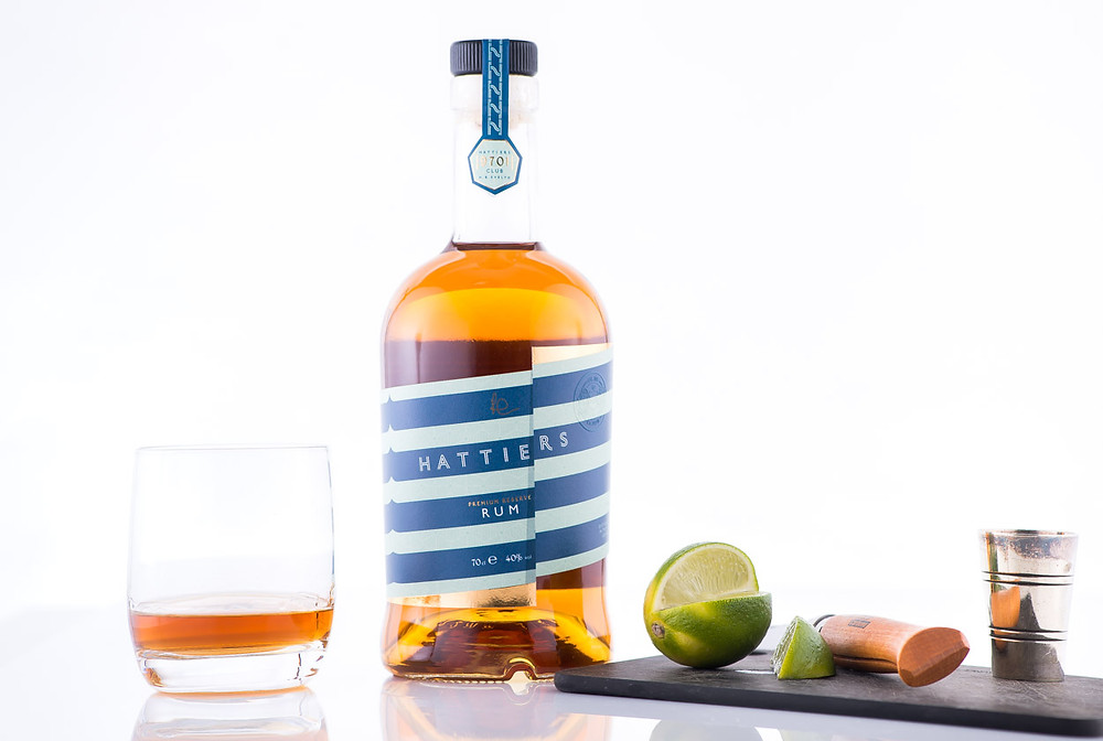 Hattiers Premium Rum with lime