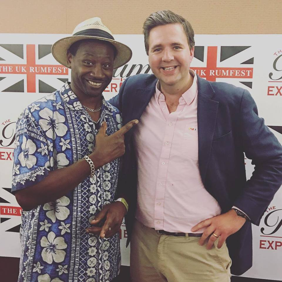 Philip Everett-Lyons and Ian Burrell at UK RumFest 2018