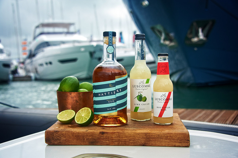 Hattiers Rum with Luscombe Ginger Beer at the Southampton Boat Show
