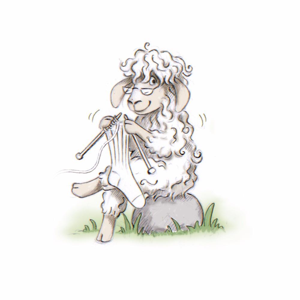 Mette Voldmester - tegning af får