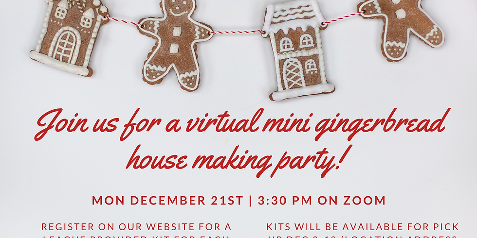 (Online) Mini Gingerbread House Making Party