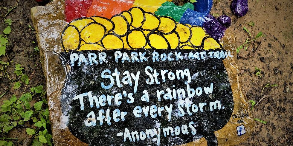 Parr Park Rock Art Trail Walk and Splash