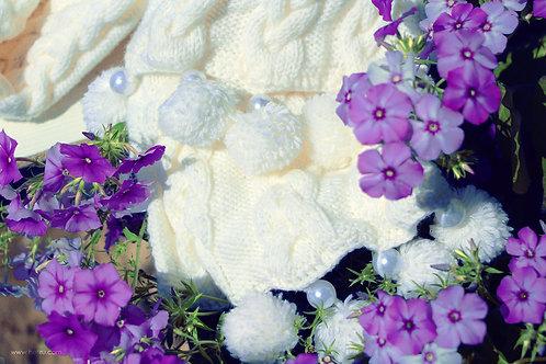 "Handmade scarf #2 ""Snow Gloria"""
