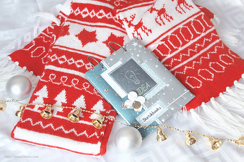 "Handmade scarf #1 ""Scarlet Christmas"""
