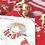 "Thumbnail: Handmade scarf #1 ""Scarlet Christmas"""