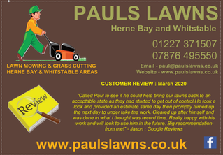 "CUSTOMER REVIEW : MARCH 2020 - ""Called Paul to see if he could help bring our lawns back ...."