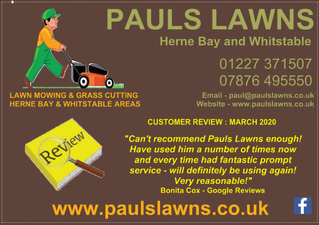 "CUSTOMER REVIEW : MARCH 2020 : ""Can't recommend Pauls Lawns enough! Have used him a number ....."