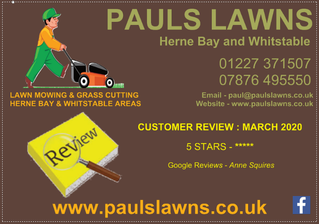 CUSTOMER REVIEW - MARCH 2020 :   5 STARS - ***** Google Reviews - Anne Squires