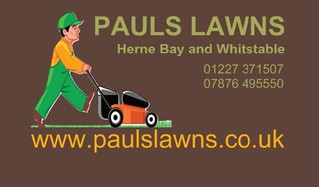 PAULS LAWNS - www.paulslawns.co.uk - Reliable Gardener covering Herne Bay, Whitstable and surroundin