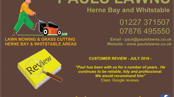 CUSTOMER REVIEW : JULY 2019 - Paul has been with us for a number of years ...
