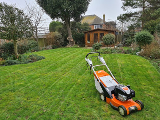 The new Stihl mower is doing the business on the first cuts of the year ....