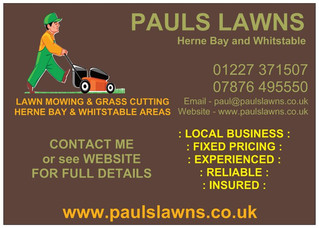 APRIL 2019 - Always happy to try and fit in new customers looking for regular visits - www.paulslawn