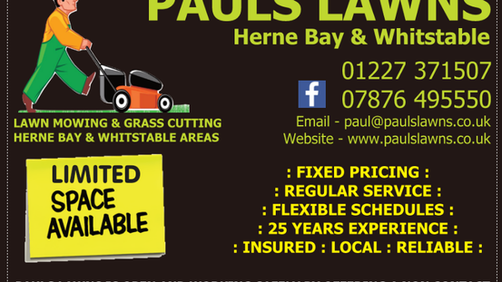 JAN 2021 - ENQUIRES WELCOME - PAULS LAWNS IS OPEN AND WORKING SAFELY BY OFFERING A NON CONTACT ...