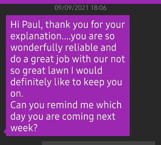 10th September 2021 - It's always reassuring to get a positive response. Communication is the key
