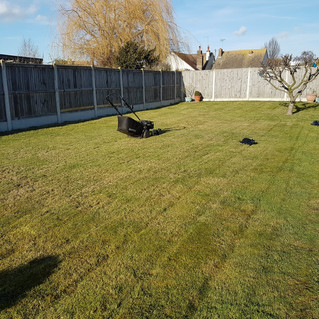 February 2018 - First day out with lawn mower for 2018 . Good to be out working in the garden again.
