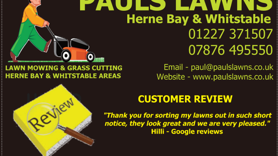 "CUSTOMER REVIEW : MARCH 2020 : ""Thank you for sorting my lawns out in such short notice, they l"