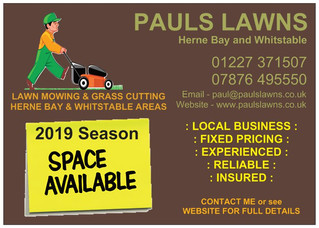 MARCH 2019 - VERY LIMITED SPACES STILL AVAILABLE FOR THIS SEASON : Reliable Gardener/Lawn Mowing ser