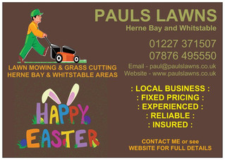 Happy Easter everyone. Stay safe & keep well.  Enquires welcome, and any calls or messages will