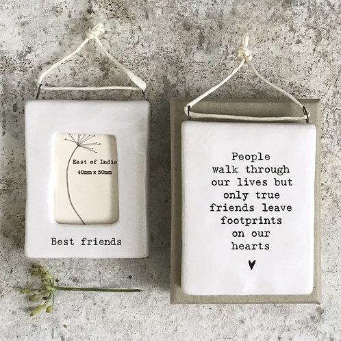 Best Friends Mini Porcelain Photo Frame
