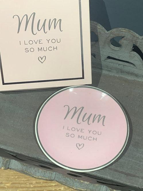 Pink Mum Trinket Dish