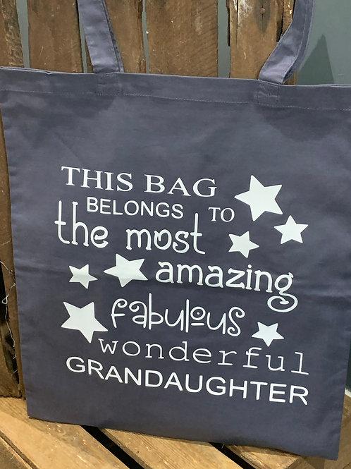 Fabulous Wonderful Grandaughter Tote Bag