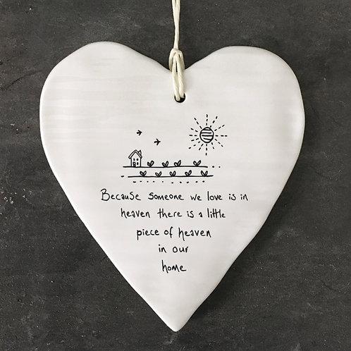 Piece Of Heaven Porcelain Heart
