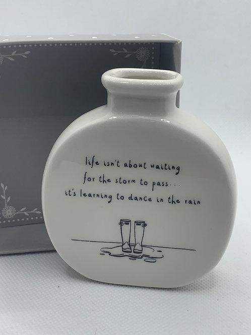 Dance In the Rain Bud Vase