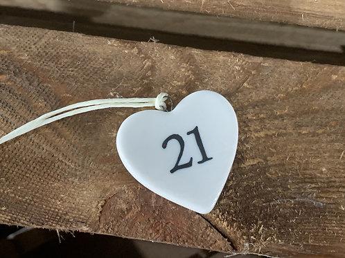 Twenty One Porcelain Heart