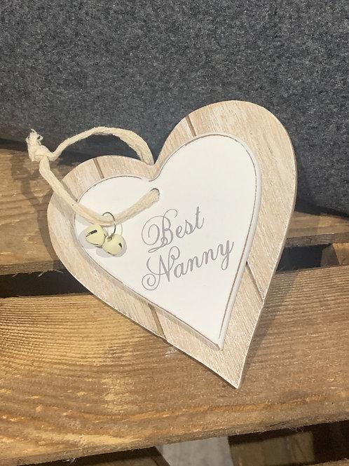 Best Nanny Wooden Heart