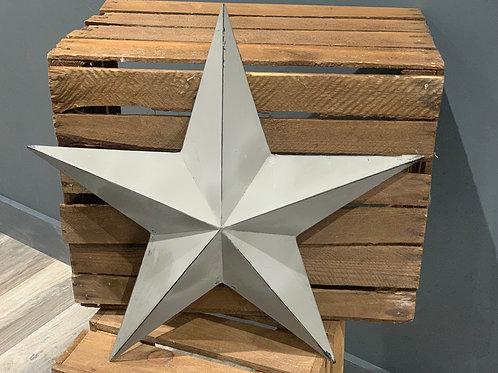 52cm Grey Metal Barn Star
