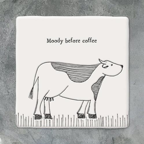 Cow Porcelain Coaster
