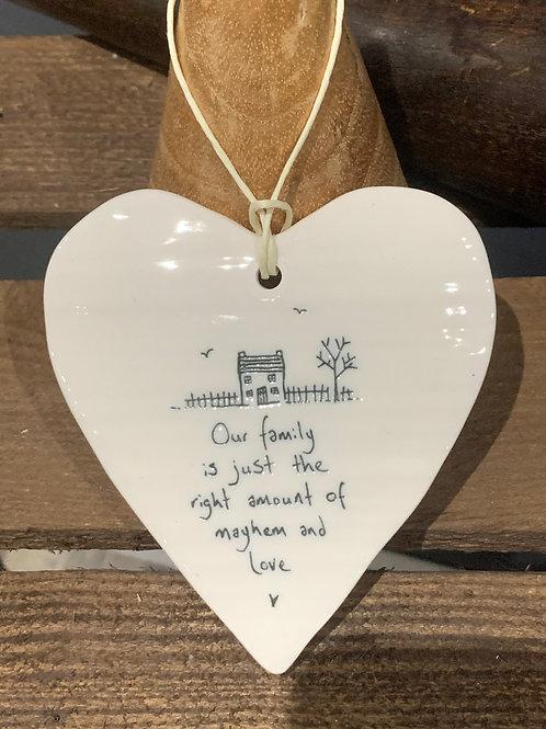Our Family Porcelain Heart