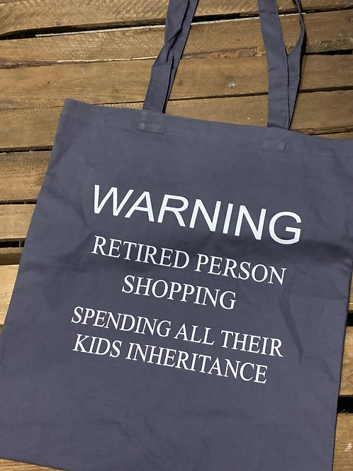 Retired Person Shopping Bag