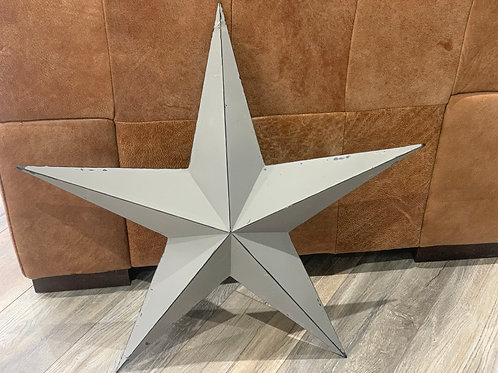 73cm Grey Metal Barn Star