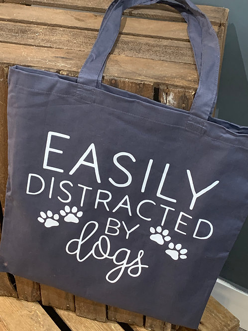 Easily Distracted By Dogs Tote Bag