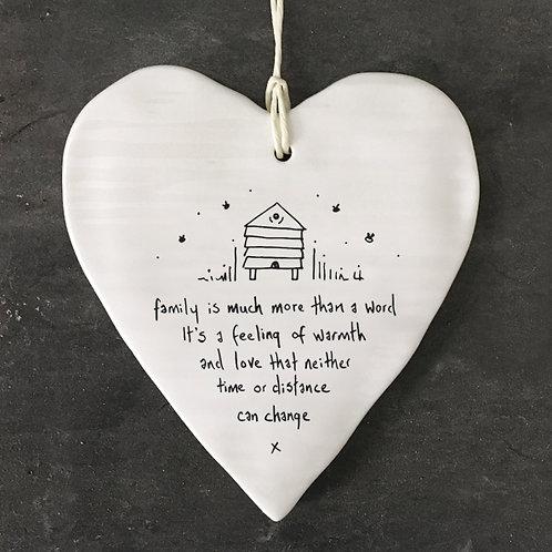 Family Is More Porcelain heart
