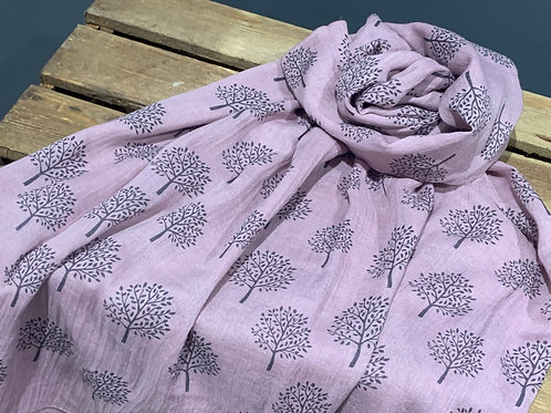 Pink Mulberry Tree Scarf