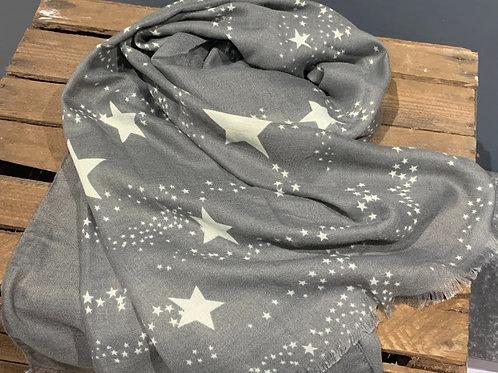 Grey Star Scarf